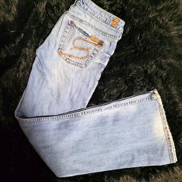 Women's Silver Boot Cut Jeans